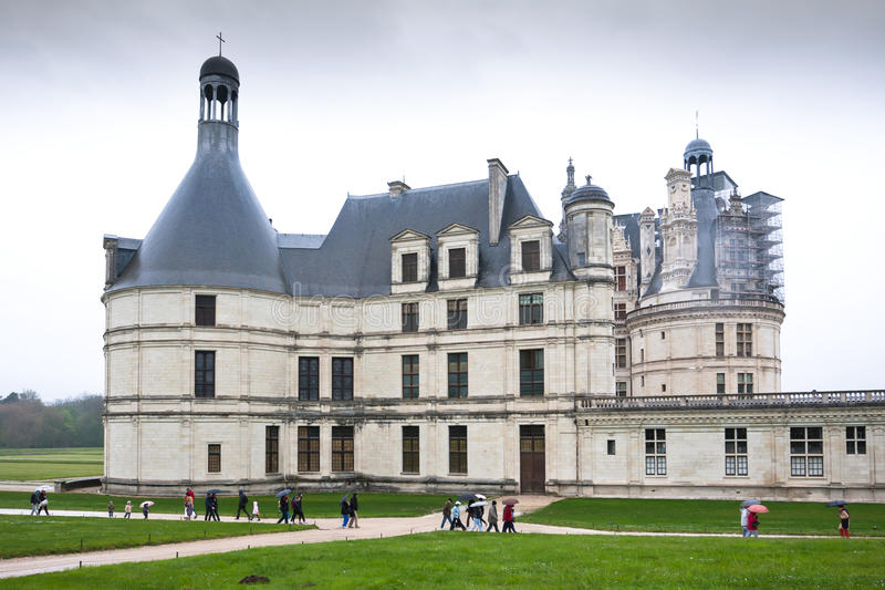 chateau de Chambord, Loire Valley,法国 免版税图库摄影