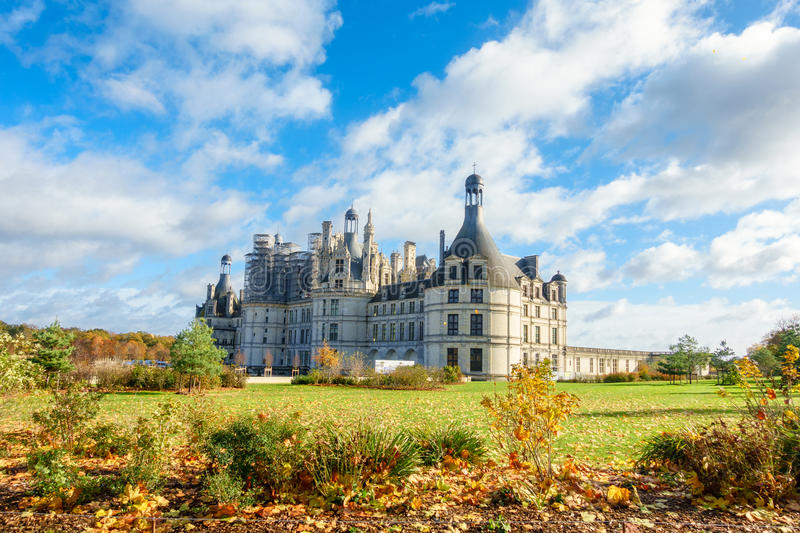 Chateau de chambord,architecture royal medieval french castle royalty free stock photography