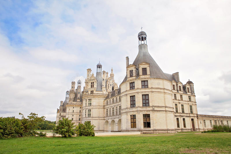 Chateau de Chambord, castello francese medievale reale alla Loira Valle immagine stock libera da diritti
