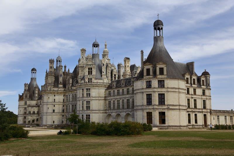 Chateau de Chambord, Chambord, Loire Valley, Frankrike - skott Augusti, 2015 arkivfoto