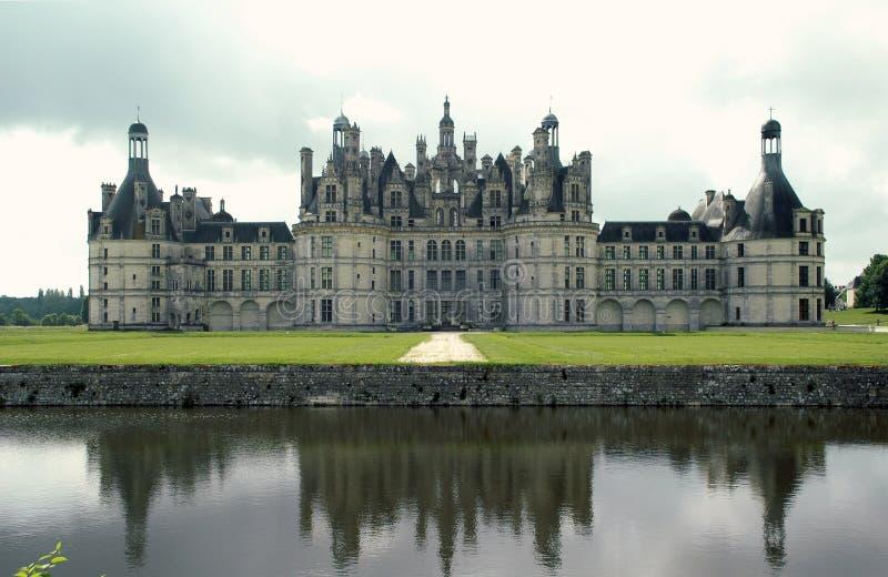 Chateau de Chambord, Frankrike arkivfoton