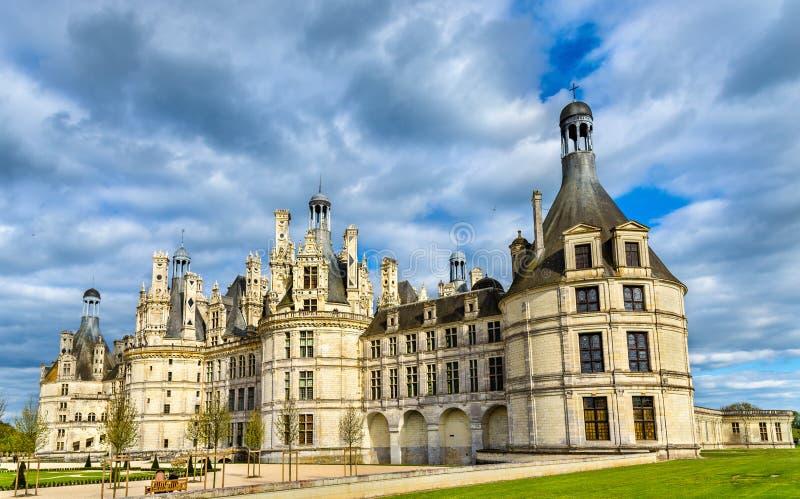Chateau DE Chambord, het grootste kasteel in de de Loire-Vallei - Frankrijk stock afbeelding
