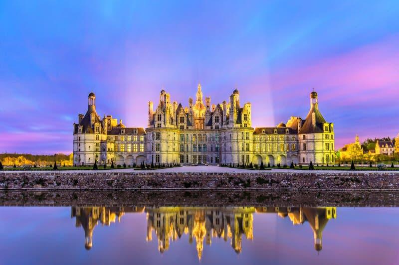 Chateau de Chambord, il più grande castello il Loire Valley - in Francia fotografie stock