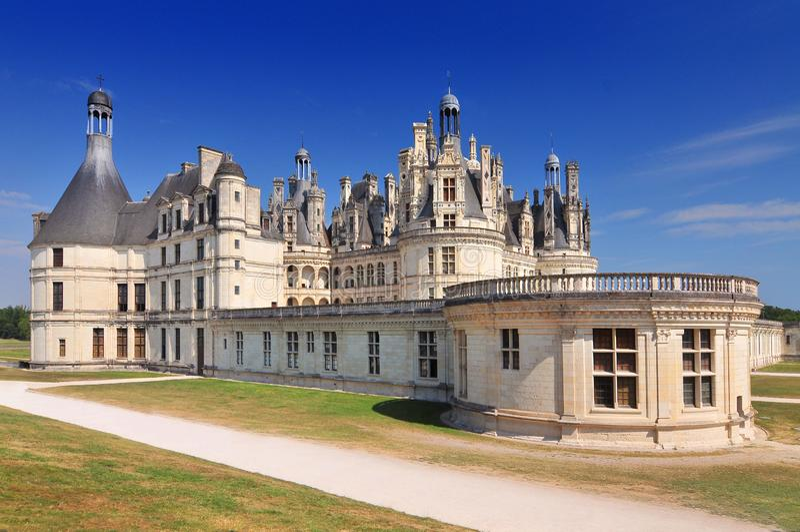 Chateau de Chambord kunglig medeltida fransk slott Loire Valley Frankrike Europa arkivfoto