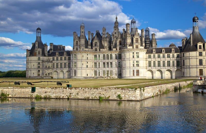 Chateau de Chambord, Loire Valley, Frankrike arkivfoto