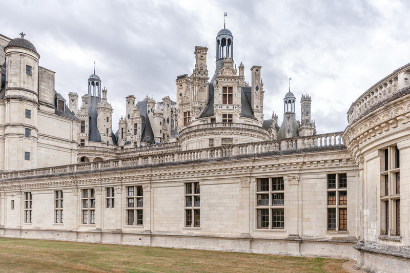 Chateau de Chambord, royal medieval castle. Loire Valley, France royalty free stock images