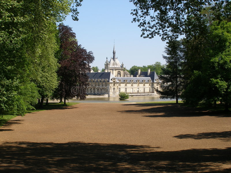 Download Chateau de Chantilly stock image. Image of historical - 2714607