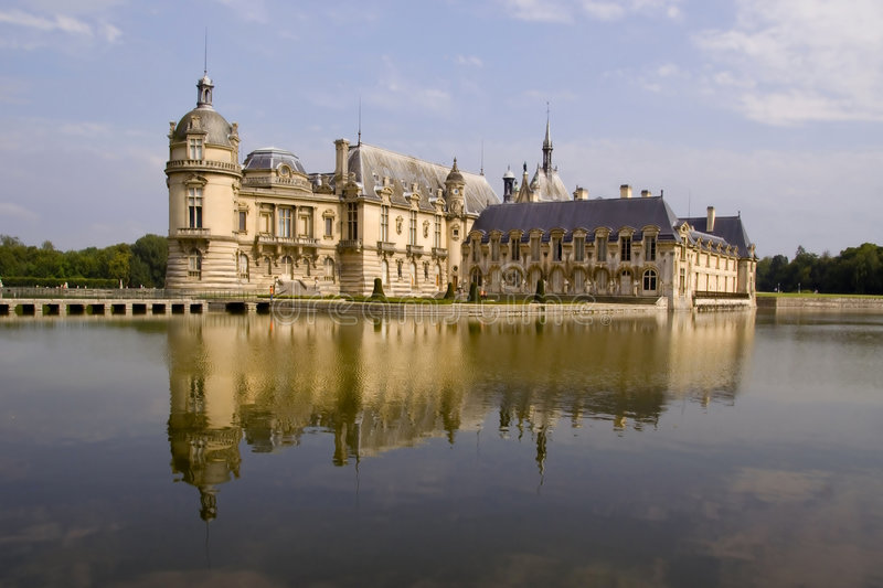 Chateau de Chantilly immagini stock