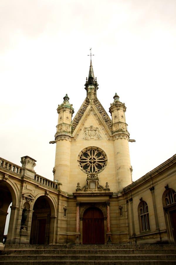 Chateau DE Chantilly, Frankrijk stock foto