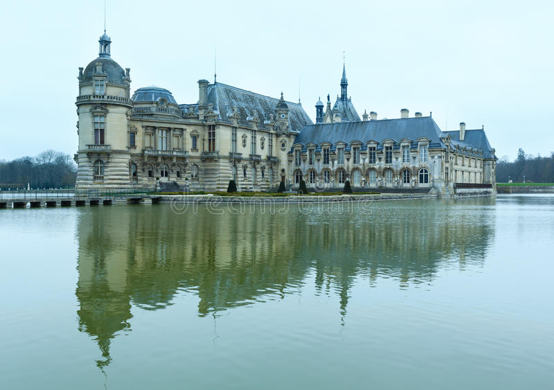 Chateau de Chantilly (Frankrike) royaltyfri bild