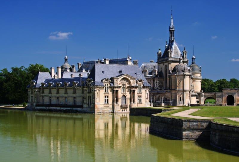 Chateau de Chantilly nära Paris royaltyfria foton