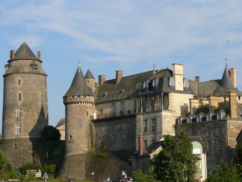 Chateau de Chateuagirons (Francia) immagine stock libera da diritti