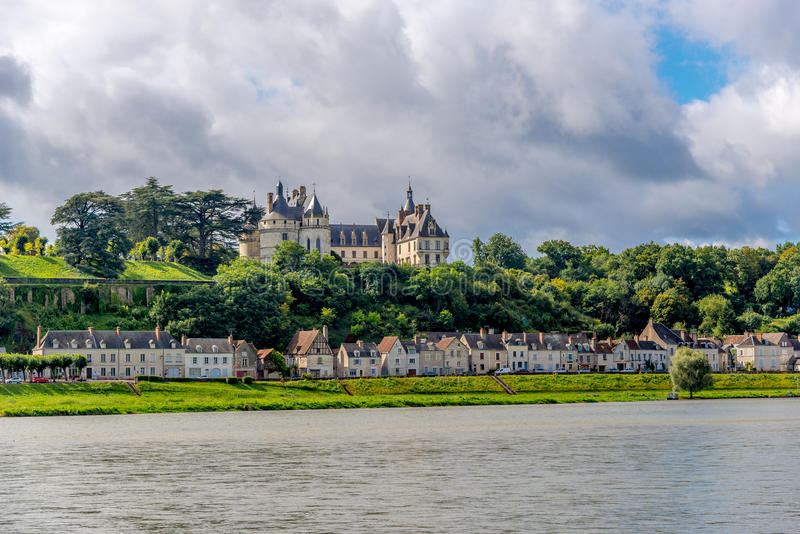Chateau de Chaumont is located on the river Loire. stock photography