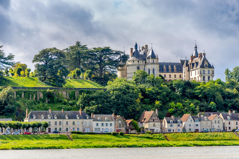 Chateau de Chaumont is located on the river Loire. CHAUMONT, FRANCE - AUGUST 26,2014 - Chateau de Chaumont is located on the river Loire.In the 15th century stock photo