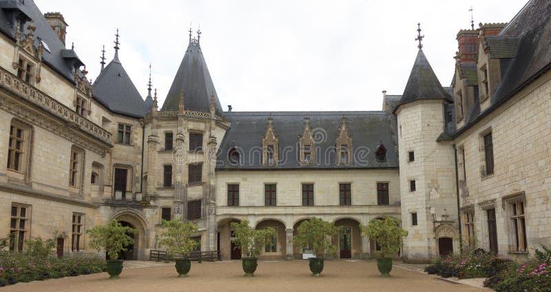 Chateau de Chaumont, Loire Valley, France. Courtyard of Chateau de Chaumont, Loire Valley, France stock image
