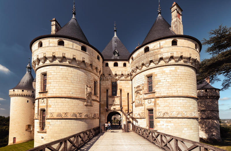 Chateau de Chaumont-sur-Loire, castle in France royalty free stock photography