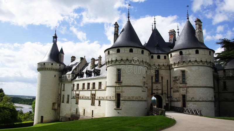 Chateau de Chaumont sur Loire. Castle of Chaumont on the river Loire in France royalty free stock photo