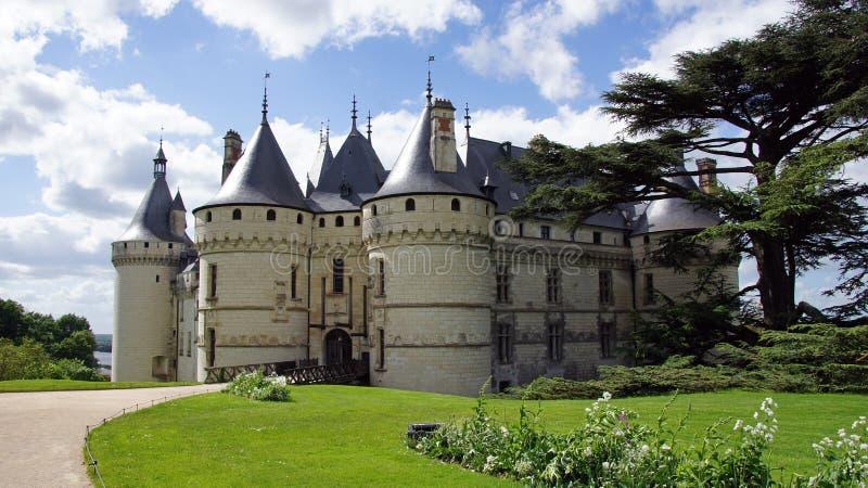 Chateau de Chaumont sur Loire. Castle of Chaumont on the river Loire in France stock photography