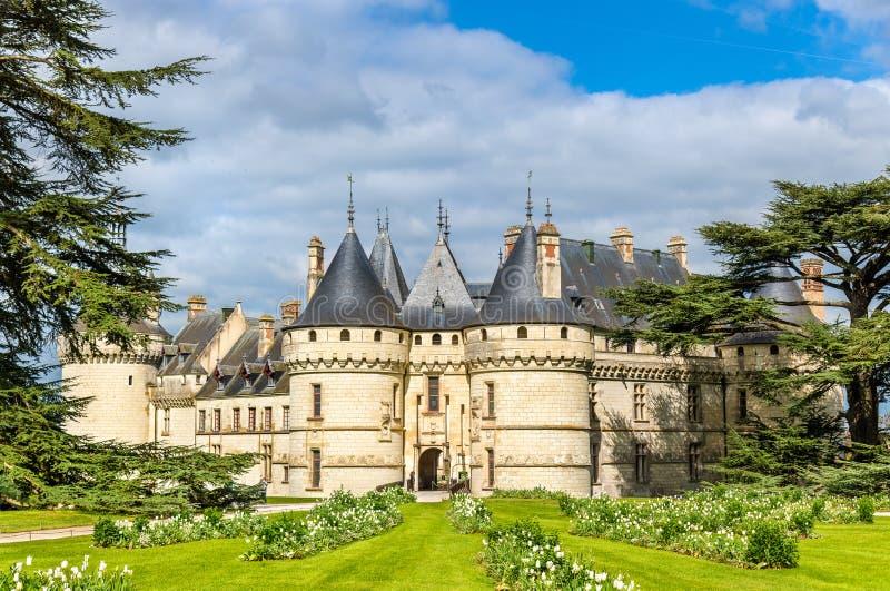 Chateau DE Chaumont-sur-Loire, een kasteel in de de Loire-Vallei van Frankrijk stock foto's