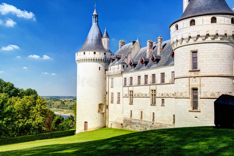 Chateau de Chaumont-sur-Loire, France. This castle is located in the Loire Valley, was founded in the 10th century and was rebuilt in the 15th century stock image