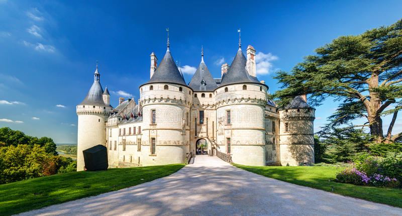 Chateau de Chaumont-sur-Loire, France. This castle is located in the Loire Valley, was founded in the 10th century and was rebuilt in the 15th century stock photography