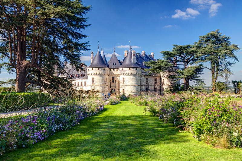 Chateau de Chaumont-sur-Loire, France. This castle is located in the Loire Valley, was founded in the 10th century and was rebuilt in the 15th century royalty free stock photography