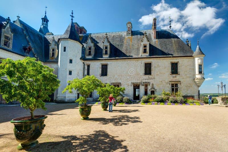 Chateau DE Chaumont-sur-Loire, Frankrijk stock afbeelding