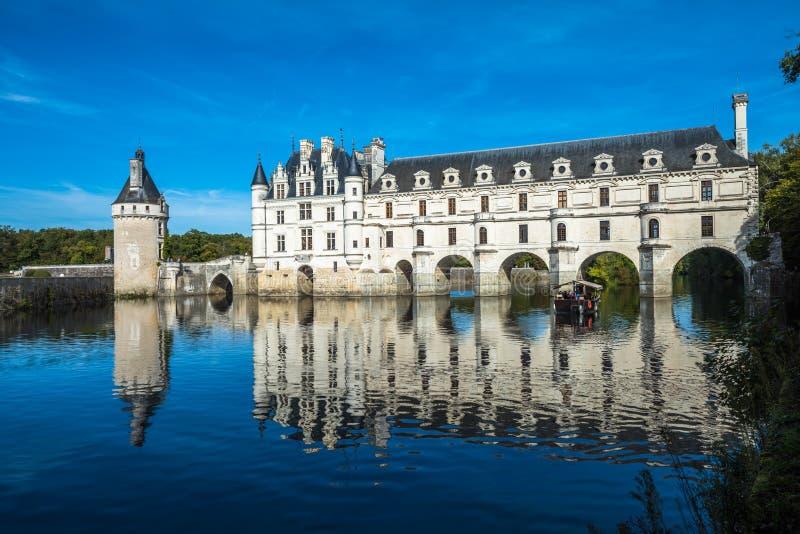 Chateau de Chenonceau στο Cher ποταμό, κοιλάδα της Loire, Γαλλία στοκ φωτογραφία