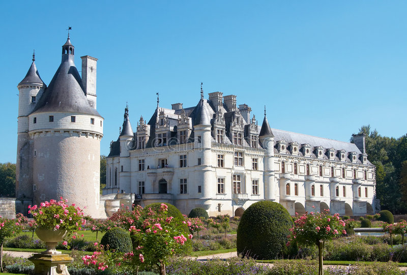Download Chateau de Chenonceau stock photo. Image of fortress, palace - 7378392
