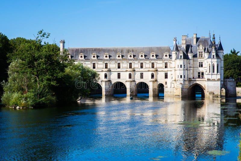 Chateau DE Chenonceau, de Vallei van de Loire, Frankrijk stock fotografie