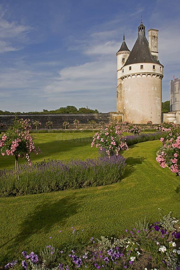 Chateau de Chenonceau i Frankrike royaltyfri bild