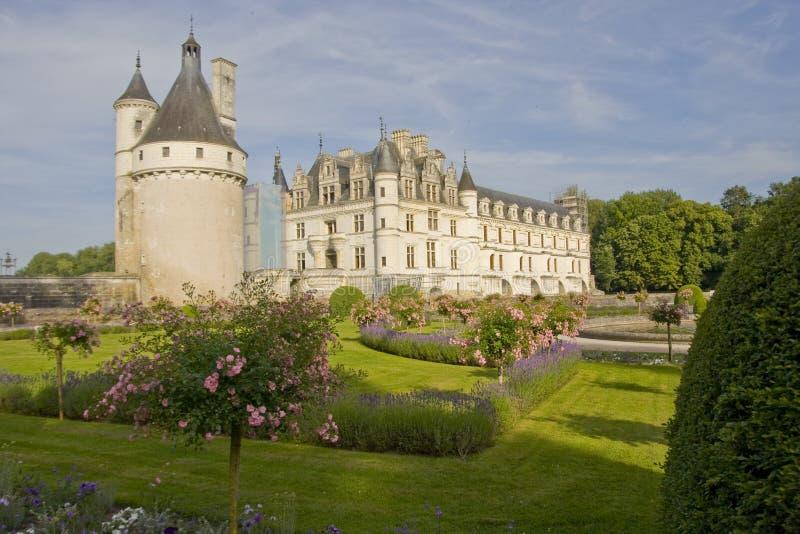 Chateau de Chenonceau i Frankrike arkivbilder
