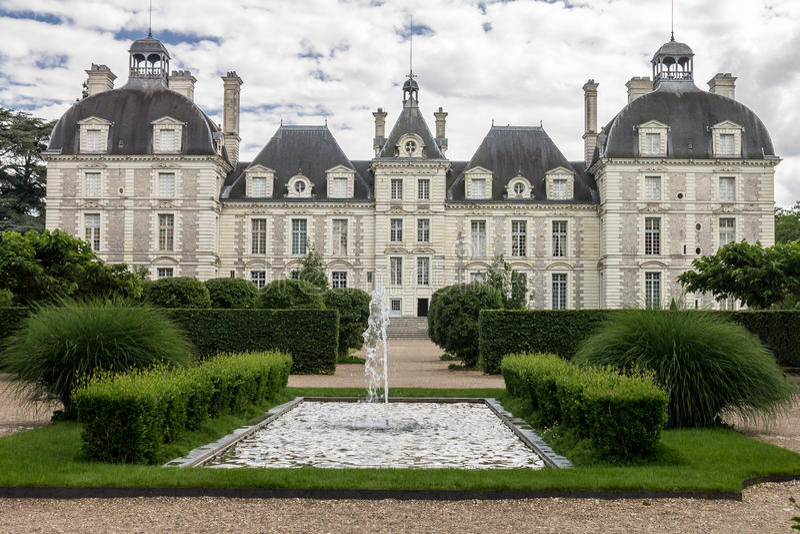 Chateau DE Cheverny royalty-vrije stock afbeelding