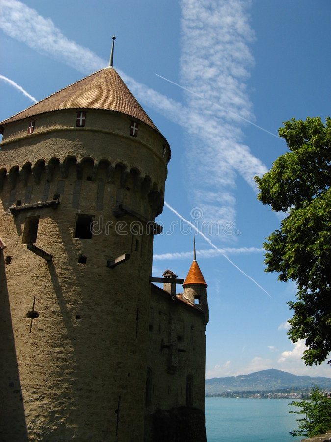 Chateau de Chillon 04 royalty free stock images