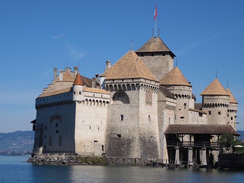 Chateau de Chillon chez le Lac Léman en Suisse image libre de droits
