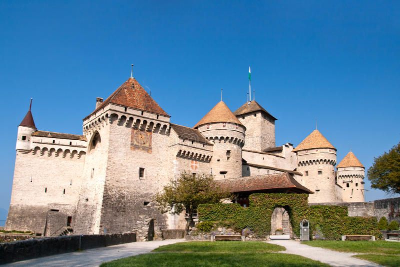 Chateau DE Chillon Zwitserland stock afbeelding
