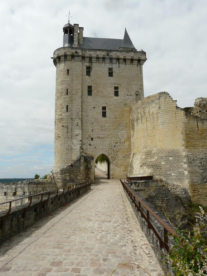 Chateau de Chinon - Chinon Castle stock foto