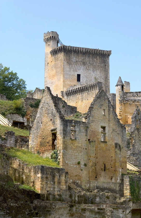 Chateau de Commarque, France royalty free stock photos