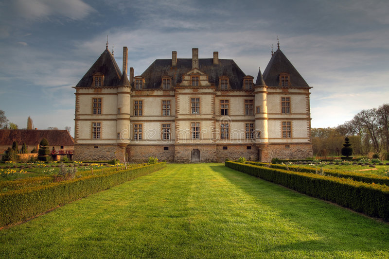 Chateau de Cormatin, France. Chateau de Cormatin is located in the Burgundy region of France in the department of Saone-et-Loire. It was build between 1606 to royalty free stock images