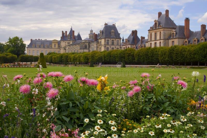chateau de fontainebleau royaltyfria foton