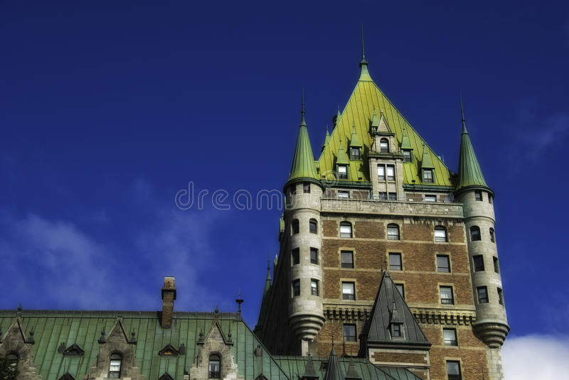 Chateau de Frontenac in Quebec, Canada. Chateau de Frontenac in Quebec in Canada royalty free stock photography