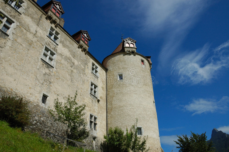 Chateau de Gruyere stockbilder