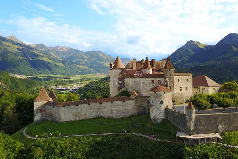 Chateau de Gruyere, Switzerland royalty free stock photos