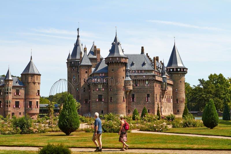 Chateau de Haar arkivbild
