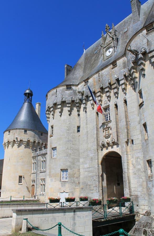 Chateau de Jonzac (Frankrike) royaltyfri bild