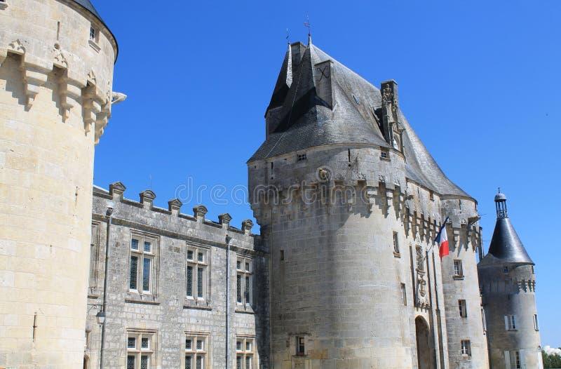 Chateau de Jonzac (Frankrike) royaltyfri fotografi