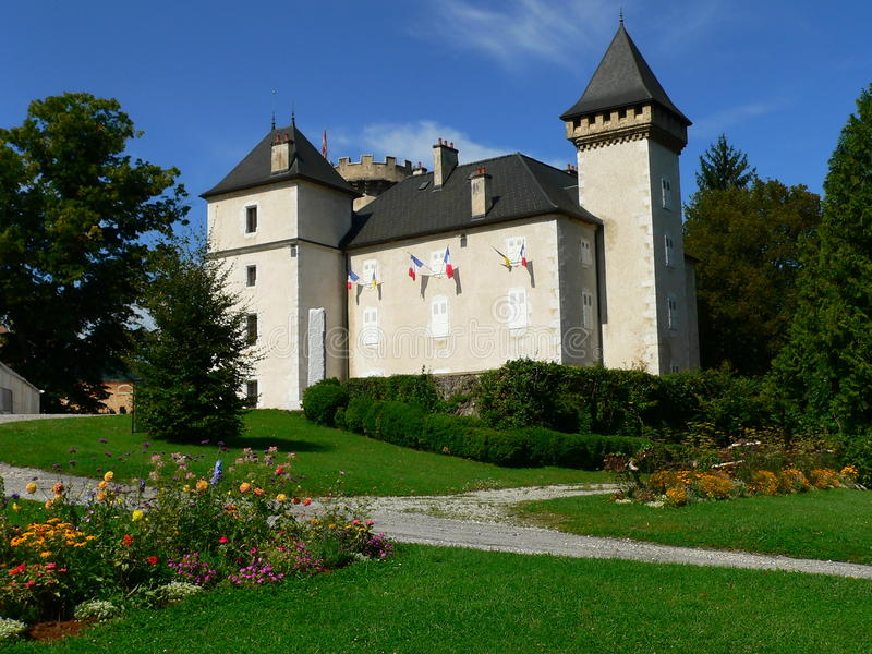 Chateau DE l Echelle, La Roche sur Foron (Frankrijk) stock afbeelding