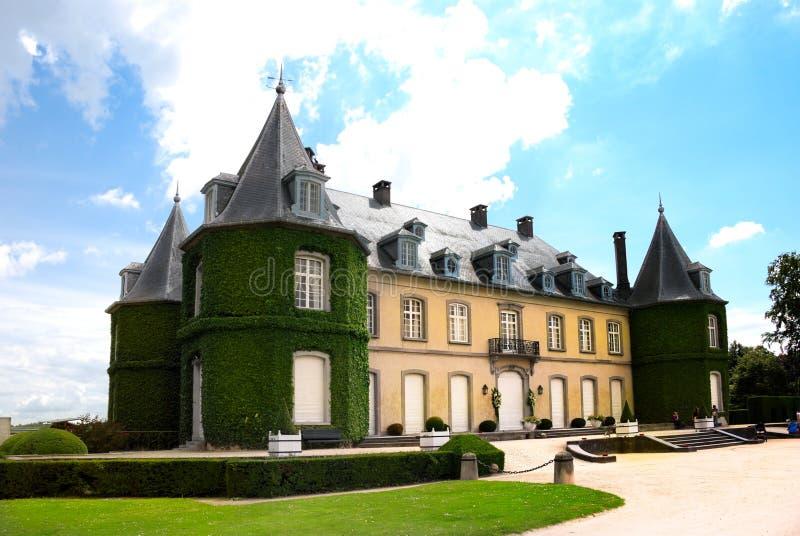 Chateau De La Hulpe - Süden von Brüssel Belgien stockbild