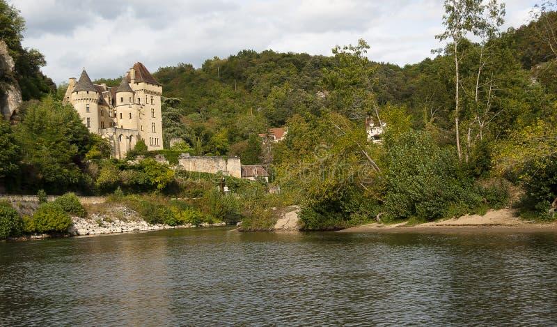 Chateau de La Malartrie sur le Dordogne image libre de droits