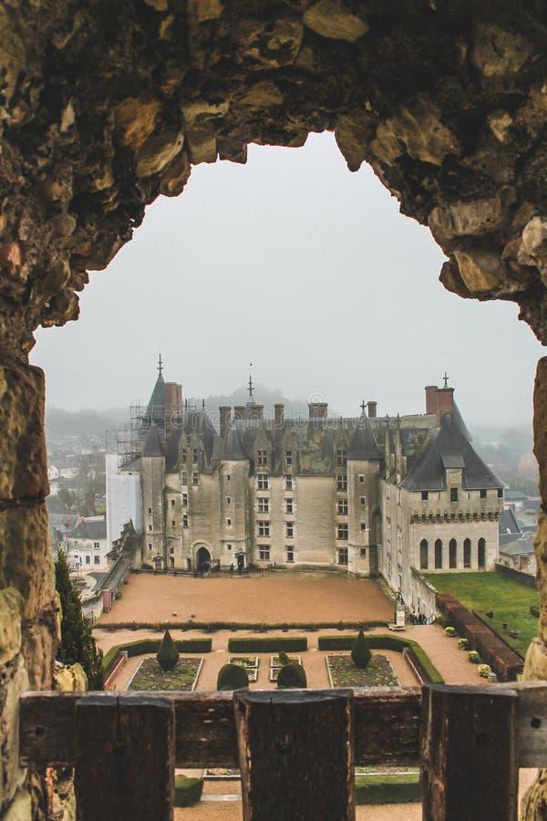 Chateau de Langeais/κοιλάδα της Loire στοκ εικόνα